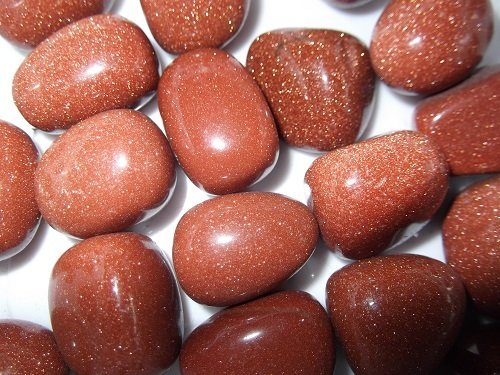Red Goldstone tumble